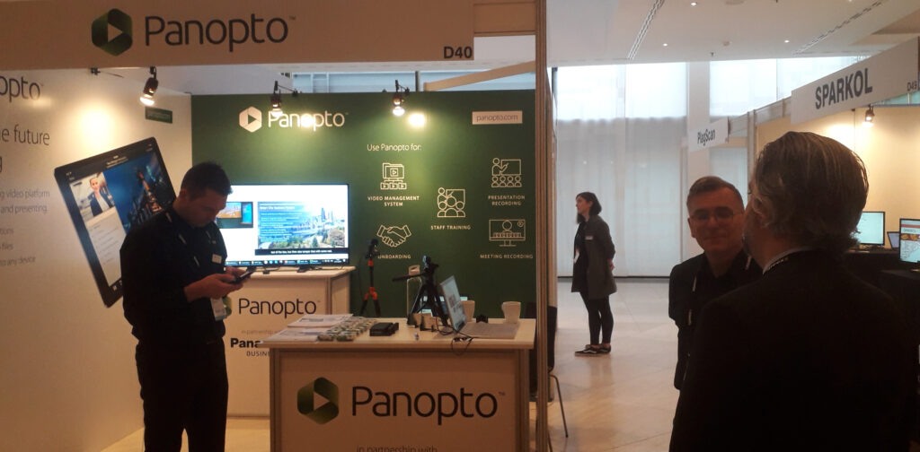 The Panopto stand at Online Educa Berlin 2019. Photo credit - RepresentEdTech