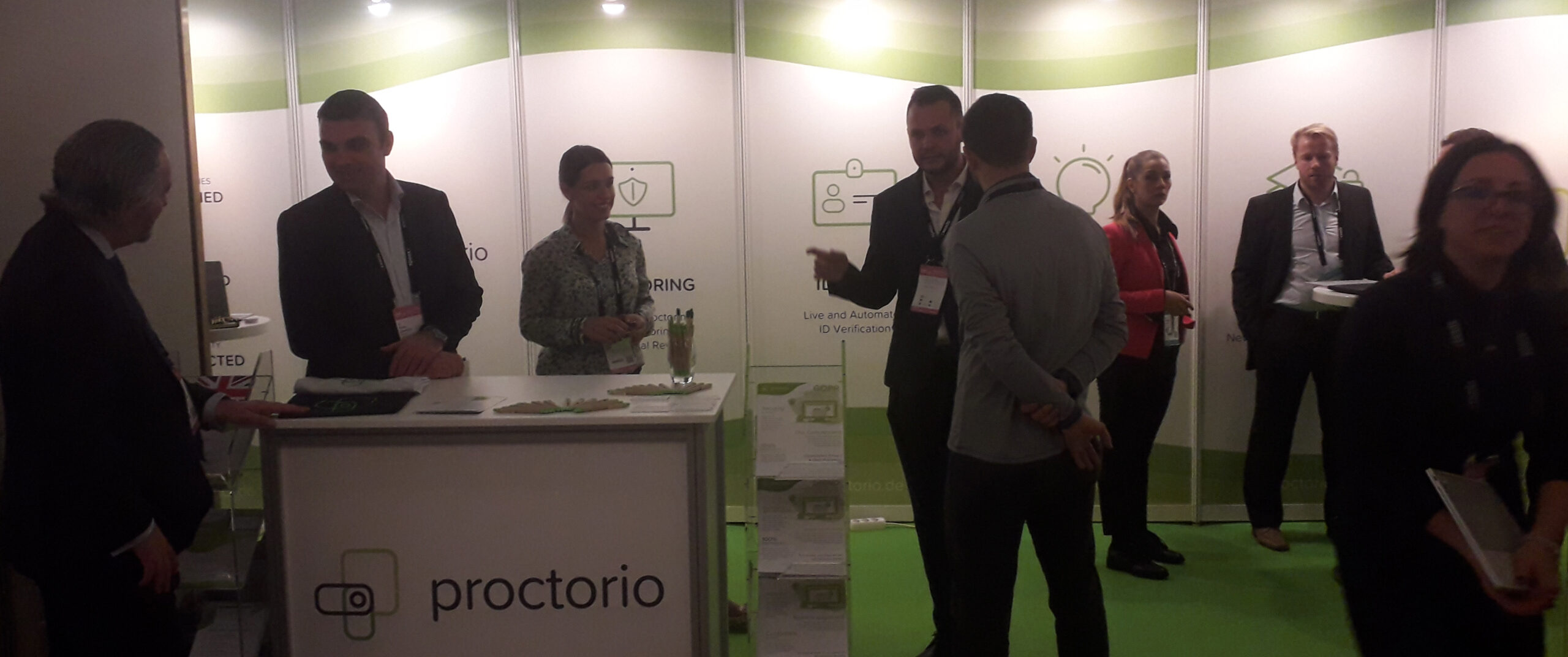 The proctorio stand at Online Educa Berlin 2019. Photo credit - RepresentEdTech