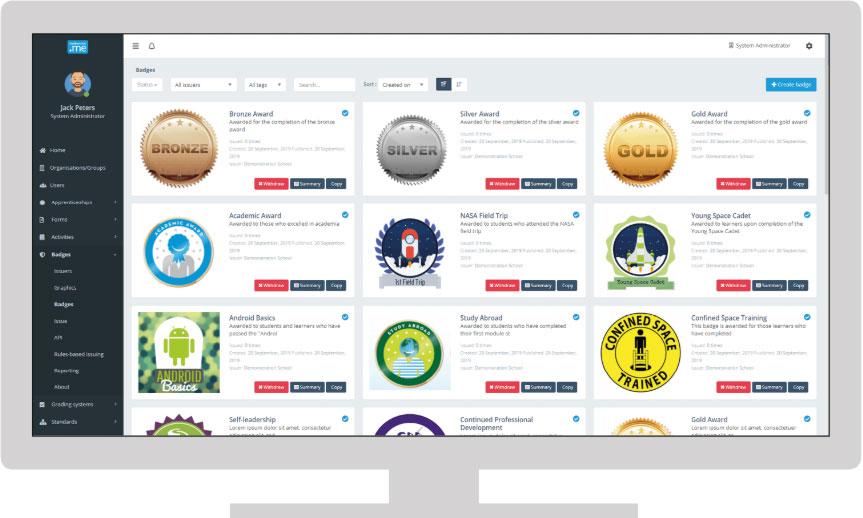 Individual badges