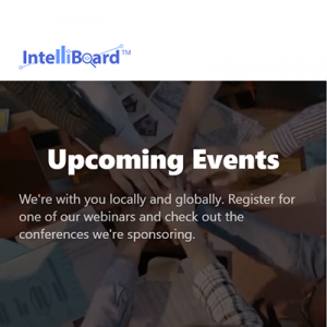 Intelliboard Upcoming events
